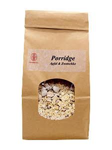 Porridge apple plum