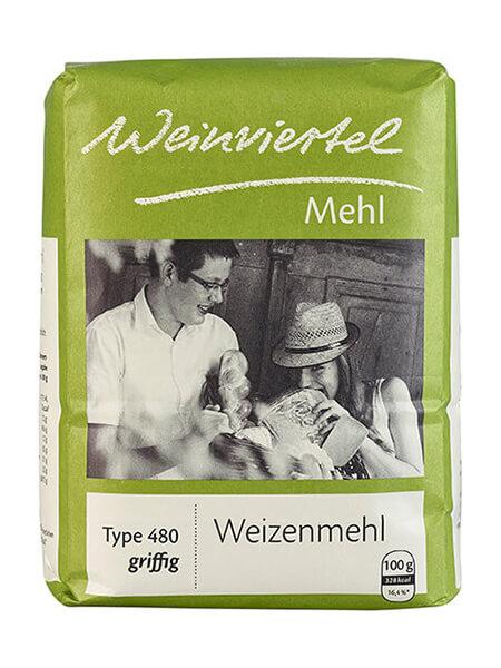 Weinviertelmehl Weizenmehl griffig Type 480